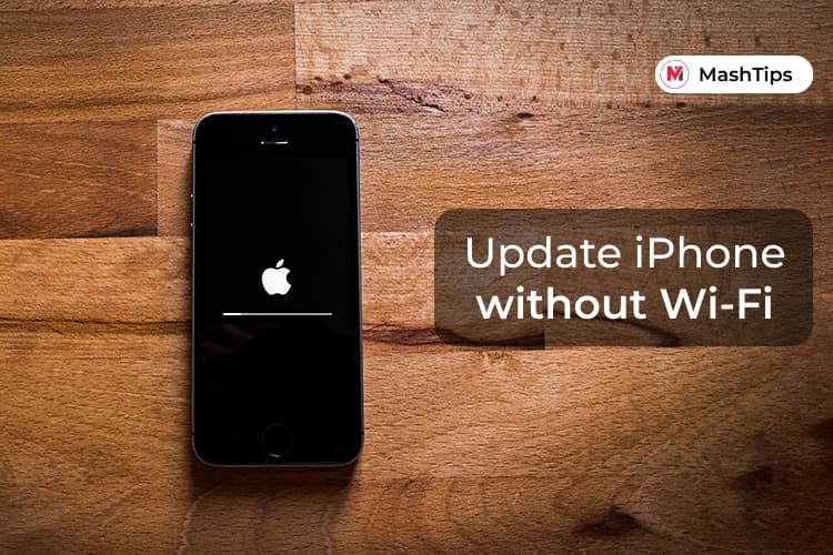 Update iPhone Without WiFi using Cellular Data