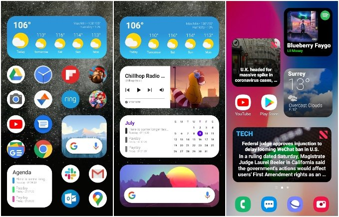 iOS 14 style widgets for Android