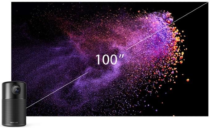 Anker Nebula Capsule Screen Size