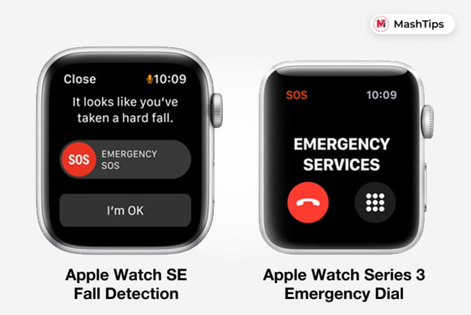Apple Watch SE Fall Detection and Series 3 Emergency Detection