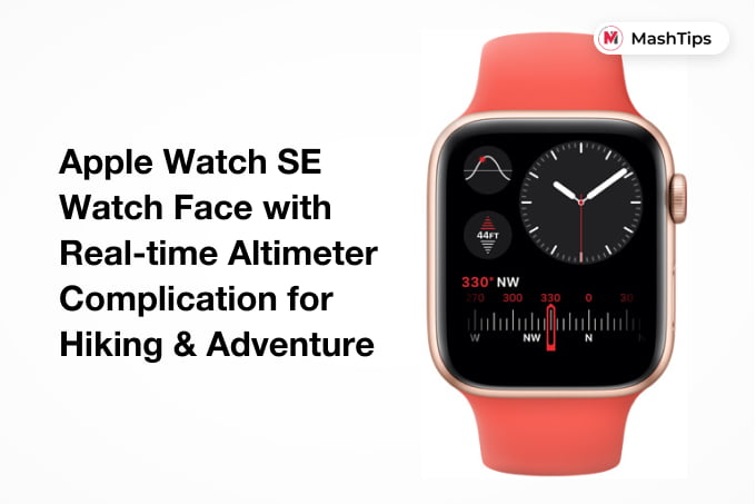 Apple Watch SE Real-time Altimeter Complication Watch Face