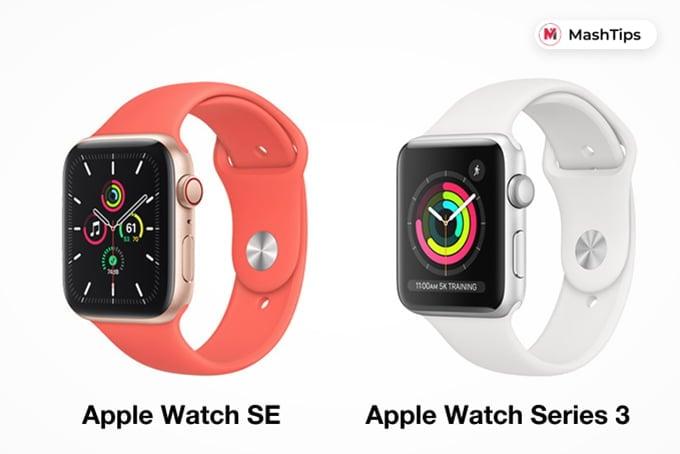 Apple Watch SE and Apple Watch Series 3 Design