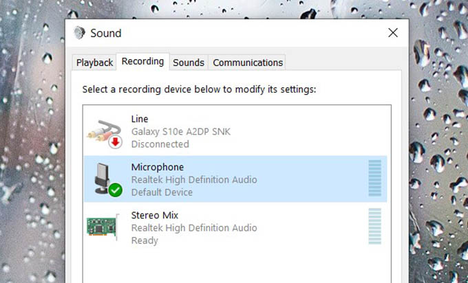 Check for Microphones and Sound Devices on Windows
