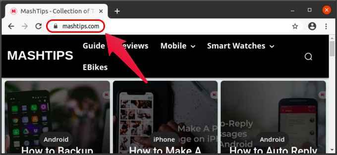 Chrome default URL visibility