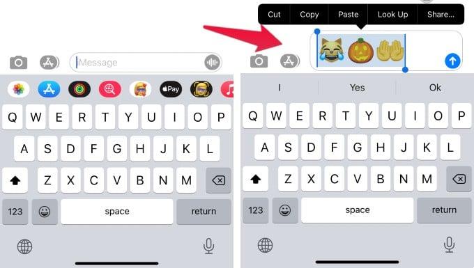 Copy Emoji from iPhone