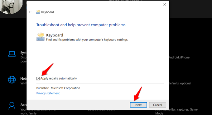 troubleshooting keyboard in windows 10