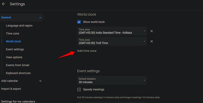 adding world clock to google calendar