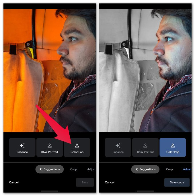 How to Create Color Pop in Google Photos