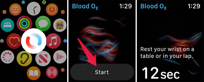 Measure Blood Oxygen on Apple Watch