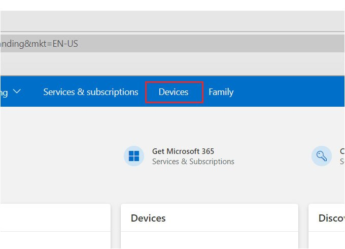 Microsoft Account Devices