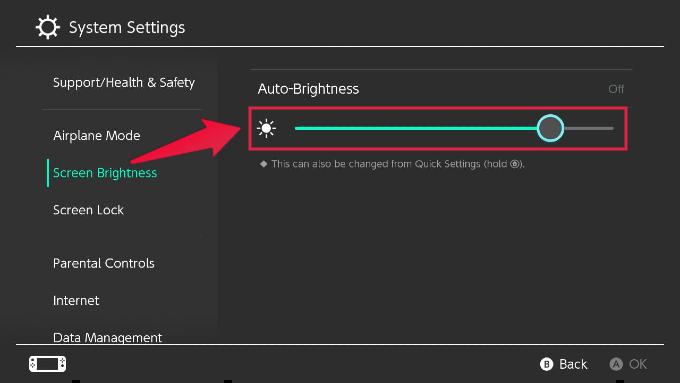 Nintendo Switch Auto Brightness Settings