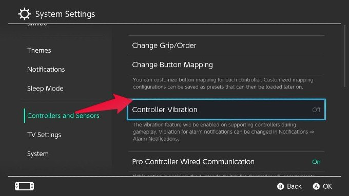 Nintendo Switch Controller Vibration