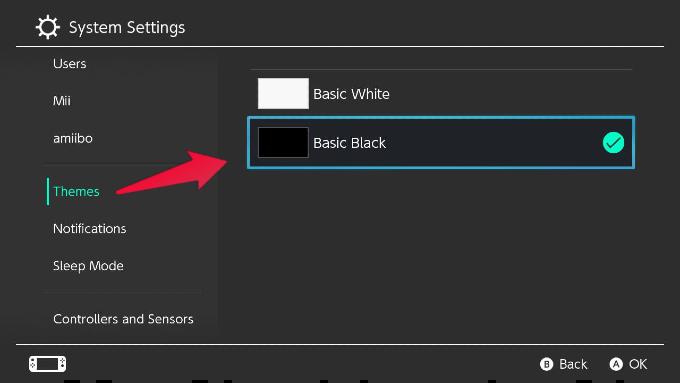 Nintendo Switch Theme Basic Black