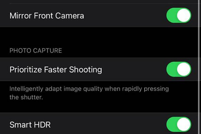 Prioritize Faster Shooting on iPhone Camera