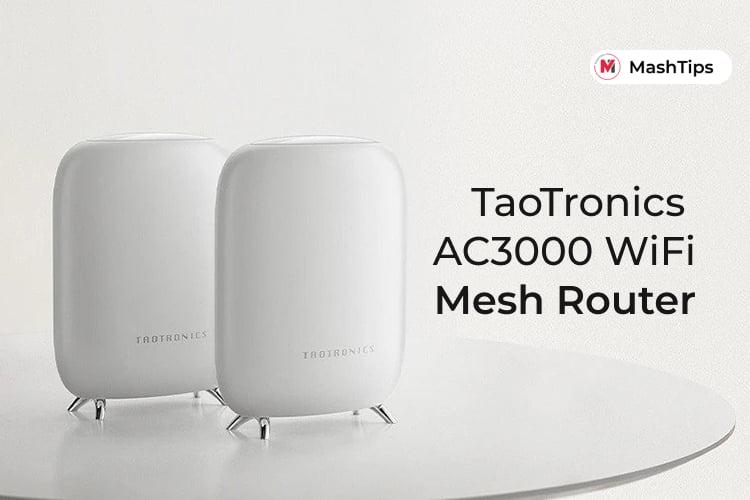 TaoTronics Tri Band AC3000 WiFi Mesh Router