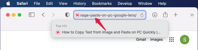 URL Pasted from iPhone on Mac