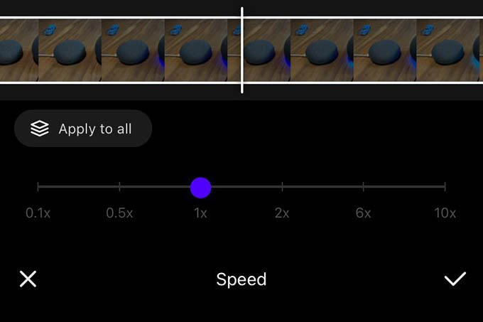 Change Speed in VITA