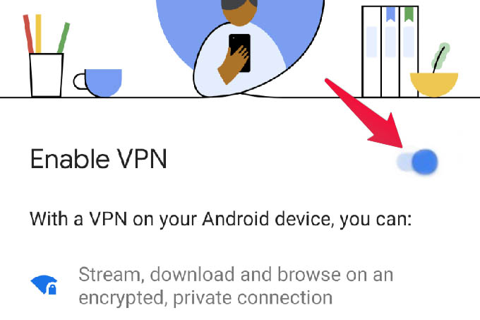Enable Google VPN on Android