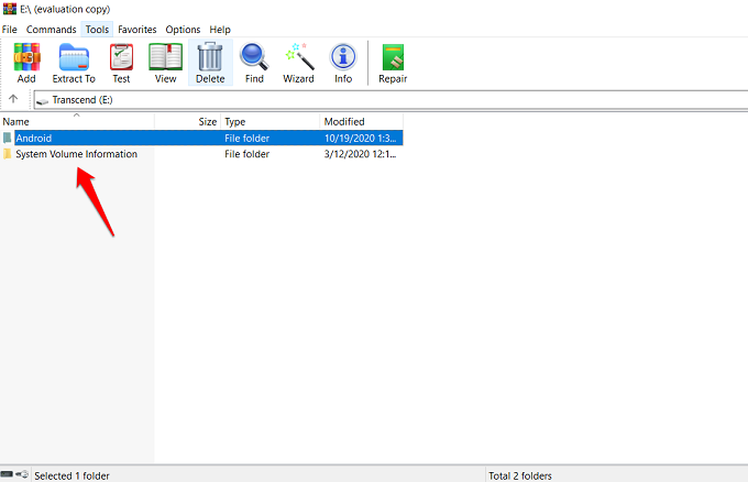 use winrar as file explorer
