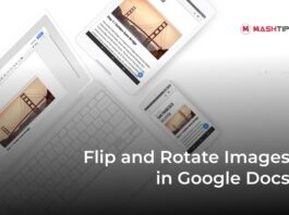 Flip and Rotate Images in Google Docs