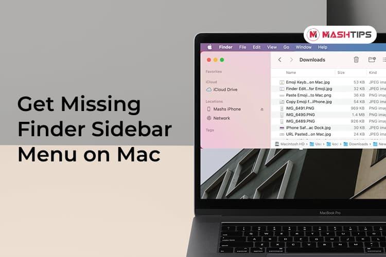 Get Back Missing Finder Sidebar Menu on Mac