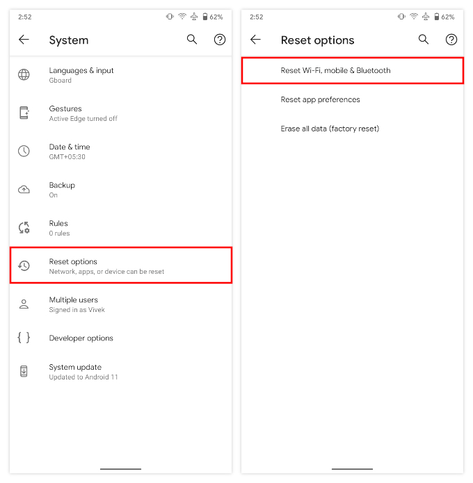 Reset Network Settings on Pixel And Other Android Phones