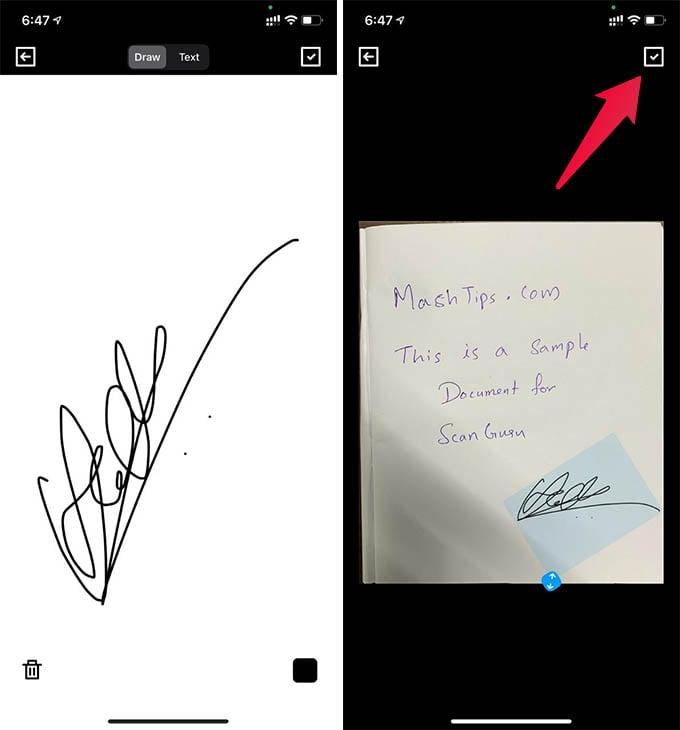 Sign Documents on iPhone Using ScanGuru