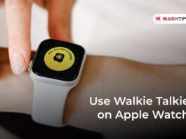 Use Walkie Talkie on Apple Watch