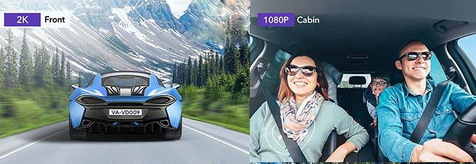 VAVA 2K Dual Dash Cam Camera Quality
