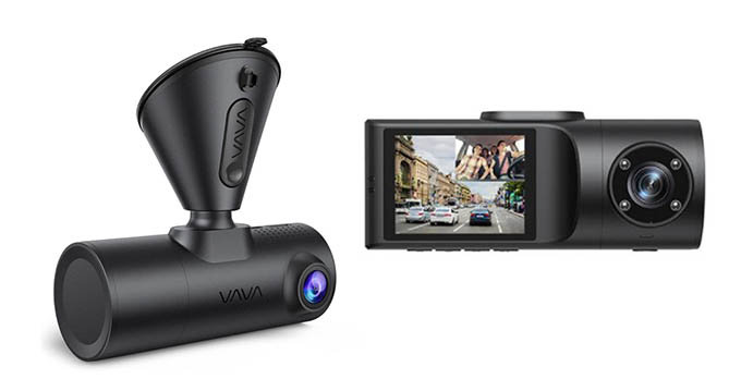 VAVA 2K Dual Dash Cam Design