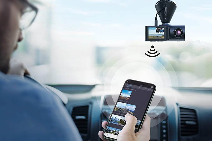 VAVA 2K Dual Dash Cam Smartphone Connectivity