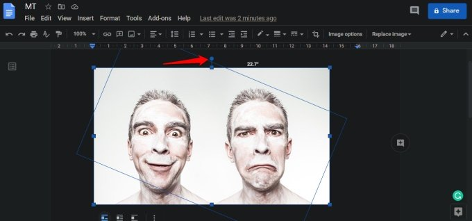 rotate image in google docs