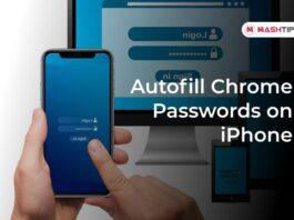 Autofill Chrome Passwords on iPhone