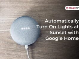 Automatically Turn On Lights at Sunset with Google H