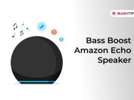 Bass Boost Amazon Echo Speaker