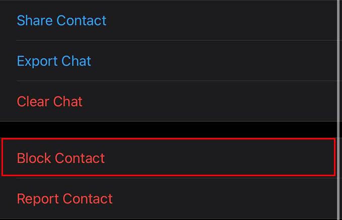 Block WhatsApp Contact to Mute Incoming WhatsApp Calls