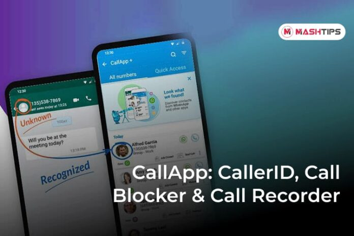 CallApp CallerID, Call Blocker & Call Recorder -F