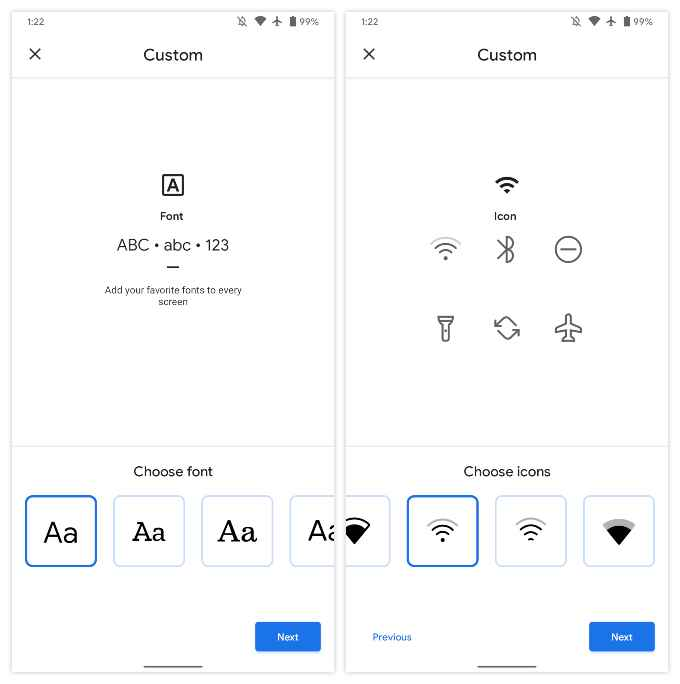 how to change fonts on Google Pixel