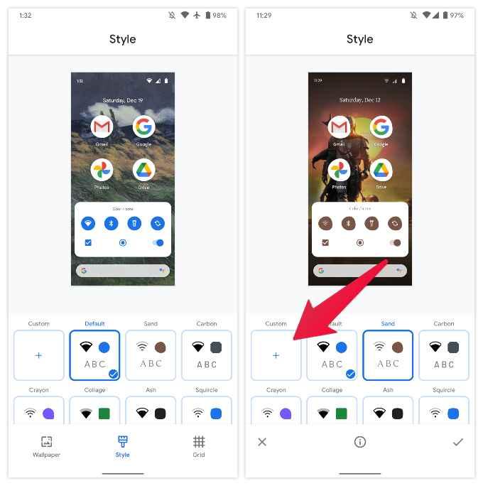 change app icons Google Pixel