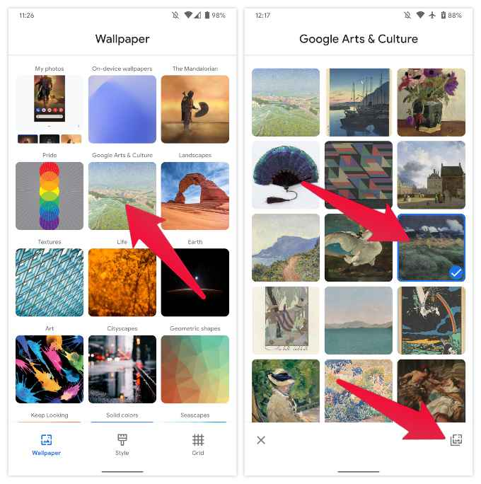 Change Google Pixel Wallpapers