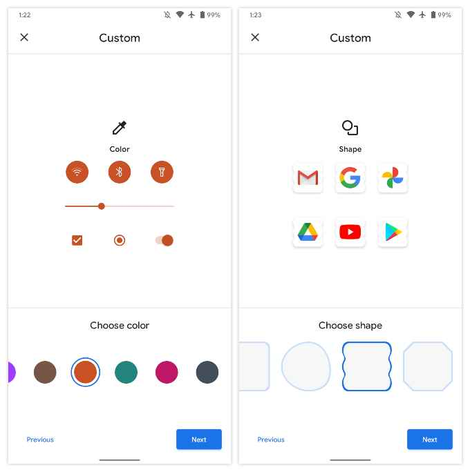 how to change app icons & accet on Pixel