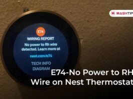 E74-No Power to RH Wire on Nest Thermostat