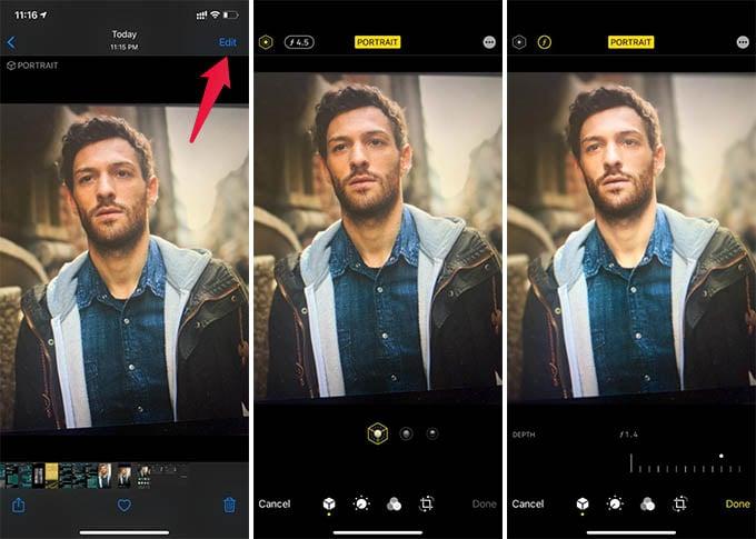 Edit Portrait Photos on iPhone