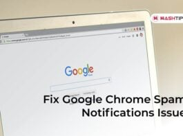 Fix Google Chrome Spam Notifications Issue