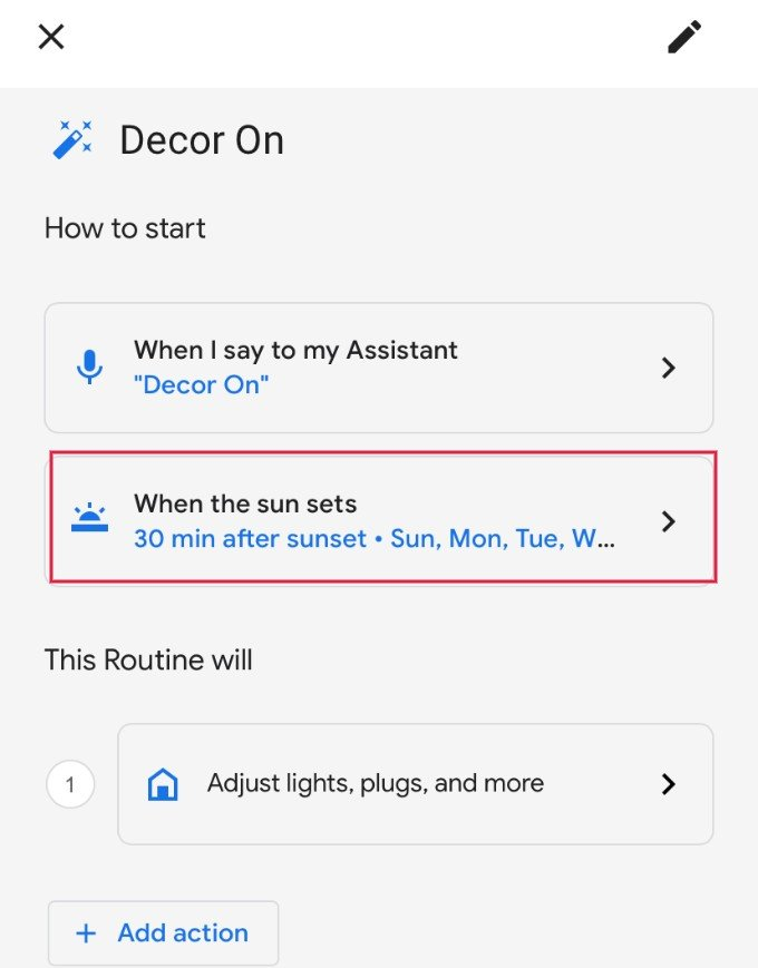Google Assistant Sunrise Schedule