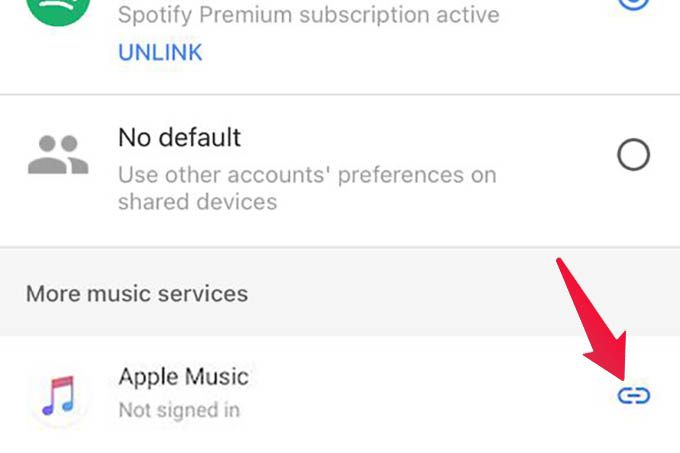 Link Apple Music to Google Home
