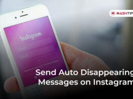 Send Auto Disappearing Messages on Instagram