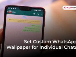 Set Custom WhatsApp Wallpaper for Individual Chats -F