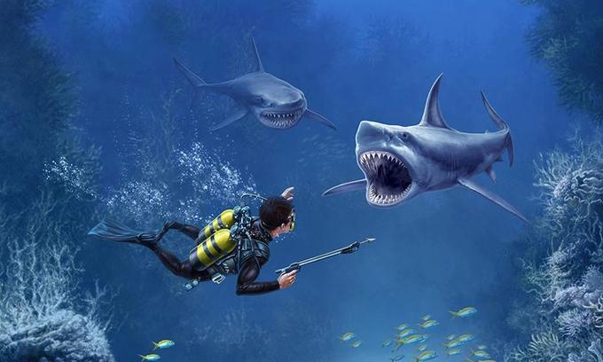 Shark VR sharks games for VR