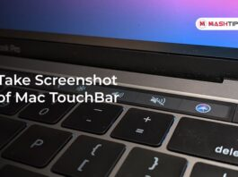Take Screenshot of Mac TouchBar